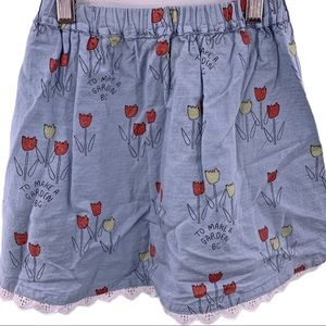 Bobo Choses blue prairie poppy skirt 2-3 year New